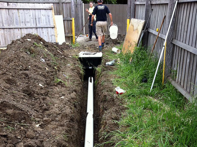 Sewer pipes and drains - replaced and relaid